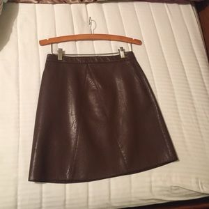 ZARA Mini Skirt   Faux leather