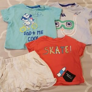 Lot of 3 Zara Baby t-shirts and shorts