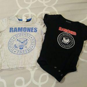 RAMONES T-SHIRT AND ONESIE
