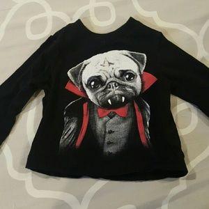 Pug Vampire Long sleeved  baby t-shirt