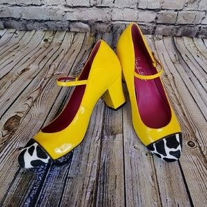 Like-new ❇ Shoes of Prey Patent & Calf Hair Heels