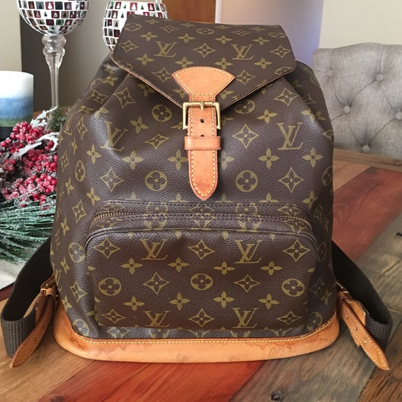 Louis Vuitton Handbags - AUTHENTIC LOUIS VUITTON MONTSOURIS GM BACKPACK 70b400f152cc5