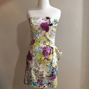 Alyn Paige Dresses & Skirts - 3/4 Beautiful Floral Strapless Dress Nordstrom