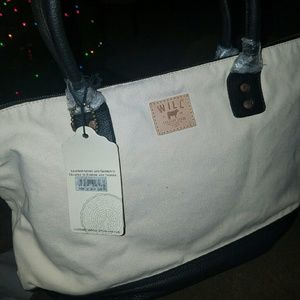 Will Leather Goods Handbags - WILL leather goods canvas tote