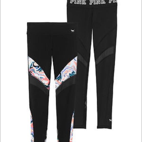 704a8ac35399d PINK Victoria's Secret Pants | Pink Vs Reversible Marble Leggings ...