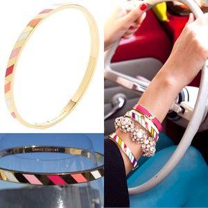 Kate Spade bangle gold striped Bracelet