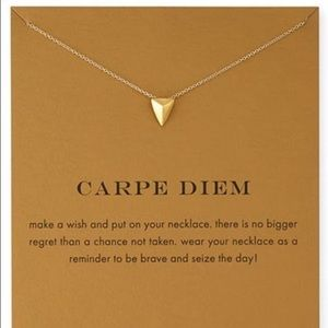 Urban Outfitters Jewelry - New💓 Carpe Diem Dogeared Style Gold Necklace