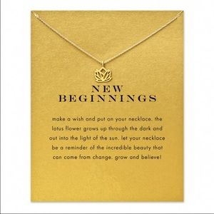 Urban Outfitters Jewelry - New💓 New Beginnings Lotus Dogeared Style Necklace