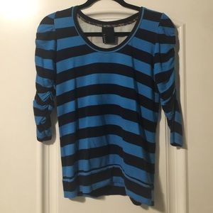 Anthropologie striped fitted top