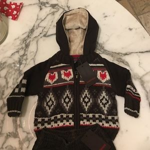 Catimini Other - NWT CATIMINI knit hoodie - 12 months