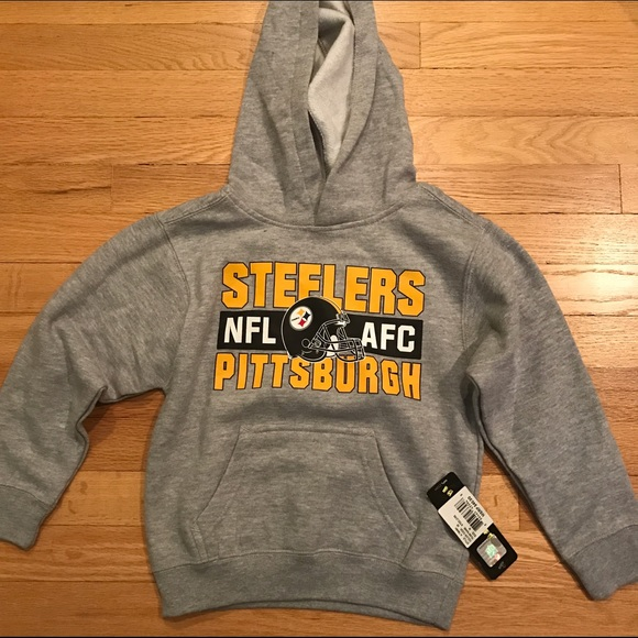f50761e3d NWT STEELERS KIDS Sweatshirt Hoodie Medium 5 6