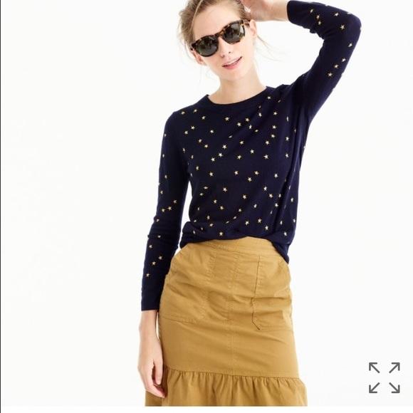 eb78252c1 J. Crew Sweaters | J Crew Tippi Sweater In Embroidered Stars | Poshmark