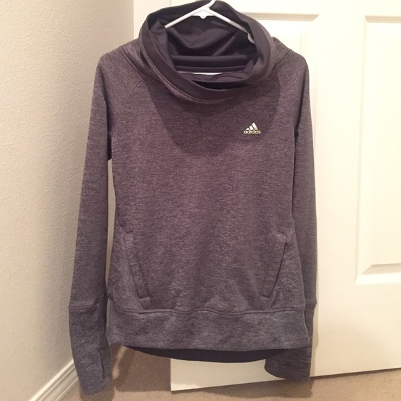 54% off Adidas Tops - ADIDAS Grey Cowl Neck Hoodie from Stefani's ...