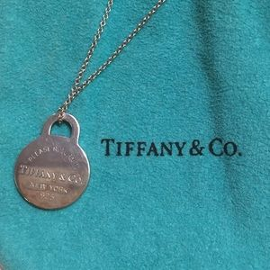 Authentic Tiffany & Co Silver Tag Necklace