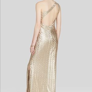 41f9031a8fd43 Saks Fifth Avenue Dresses - LAUNDRY by Shelli Segal Gold Prom Dress