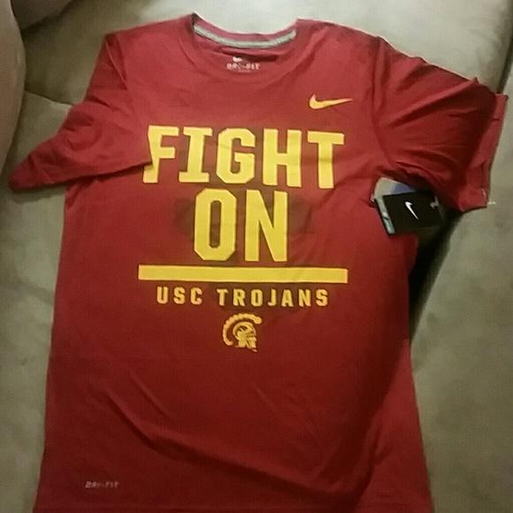 12e2c0b5 Nike Tops | Womens Drifit Usc Trojans Shirt Sz S | Poshmark
