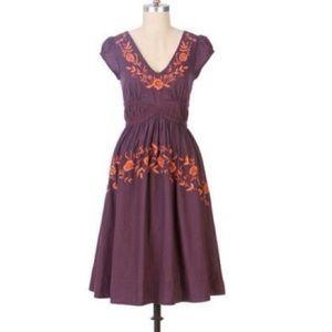 Anthro Lithe Rambling Rose Dress