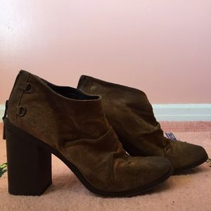 Boutique 9 Shoes - Boutique 9 Distressed Brown Booties