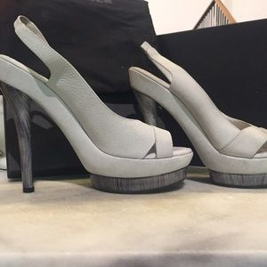 Jil Sander Shoes - Jil Sander NIB gray platform heels. Size 9.5