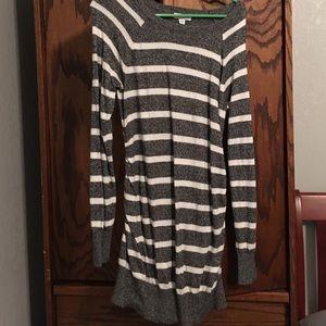 Maternity long sweater