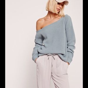 Missguided Sweaters - Missguided off shoulder sweater top NWT