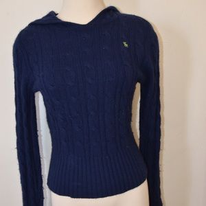 Abercrombie and fitch navy blue angora sweater