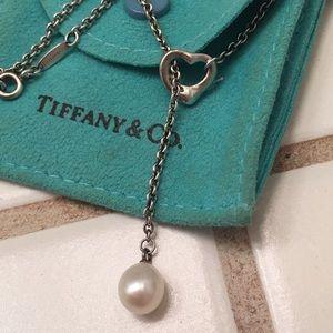 Tiffany&co Elsa Peretti Open Heart Lariat Necklace