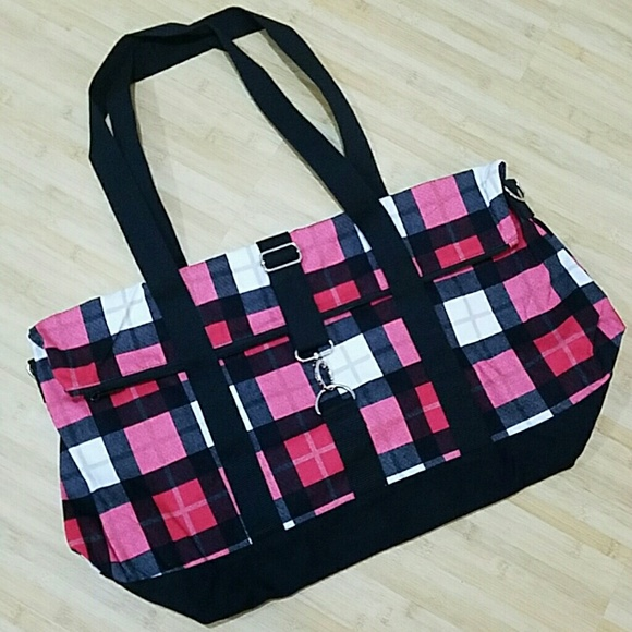 f8b046b05c Thirty One Fold Over Weekender Check Mate