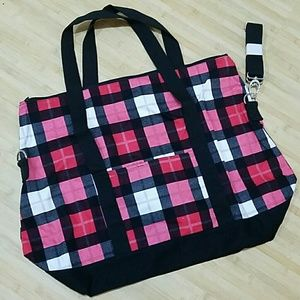 3e3ce611bb Thirty-One Bags - Thirty One Fold Over Weekender Check Mate
