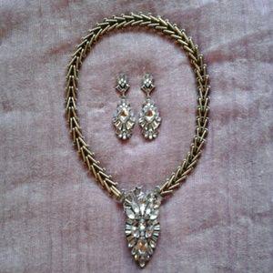 """Set """"Celestial Frost"""" Necklace/ Earrings"""