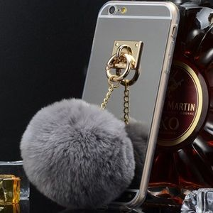 Accessories - SALE❣ New✨IPhone Gray Fur Ball Case😍✨