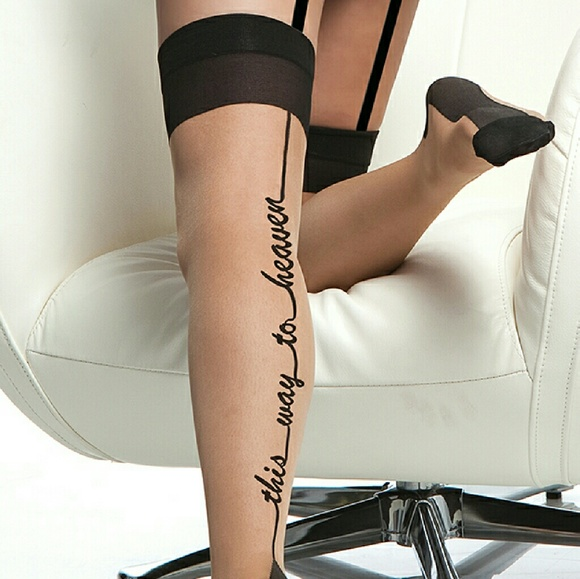 20111d91a This Way to Heaven Stockings. Boutique. coquette