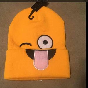 emoji Other - 😜Emoji Beanie Wink with tongue stuck out😜