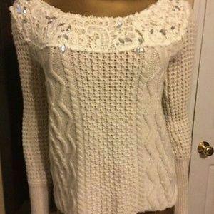 Free People ivory sweater