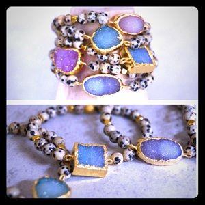 Function & Fringe Jewelry - FUNCTION & FRINGE Druzy & Jasper Bracelet NWT