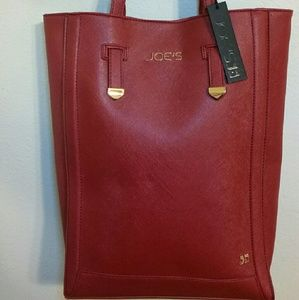 JOE'S JEANS RITZY TOTE IN VALENTINE'S RED