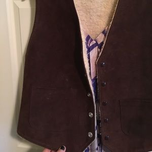 leather shearling vest