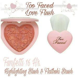 Too Faced Other - TOO FACED LTD Funfetti Blush & Flatbuki Brush Duo