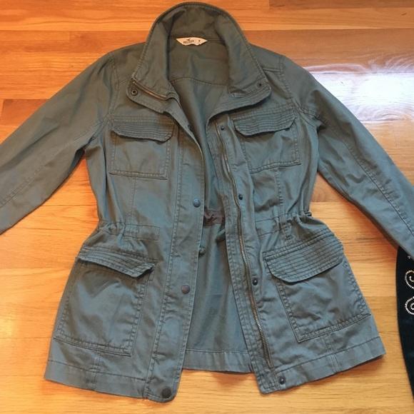 hollister green coat