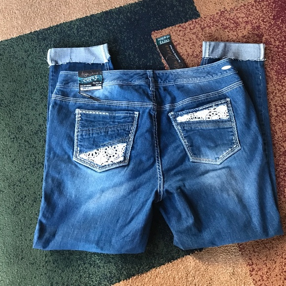 f9eb5909ae368 Ariya jeans roll up skinny sz 18 24 plus NWT