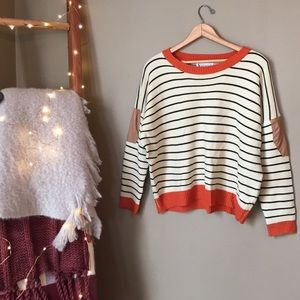 SheInside Sweaters - An Elbow Patch Sweater