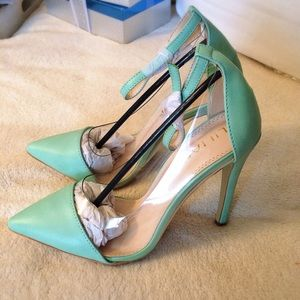 Liliana Shoes - Mint Ankle Strap HEELS 🍬🍬