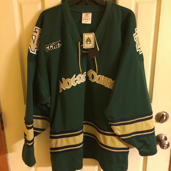 sports shoes 08acf 1060a Notre Dame Hockey Jersey NWT NWT