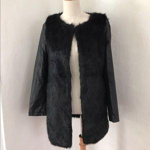 Black Sophyline Faux fur jacket
