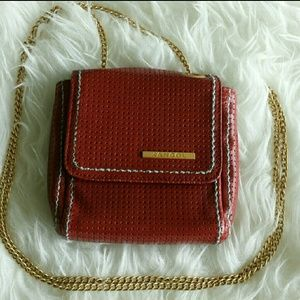 Kangol Handbags - Kangol Red Preforated Leather Cross Body Bag NEW!