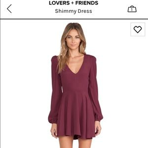 Lovers + Friends Dresses & Skirts - Lovers & Friends long sleeve open back dress