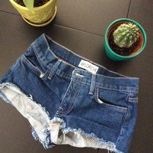 WildFox Denim Jean Shorts Size 24