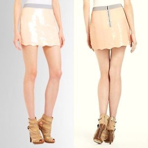 BCBGMaxAzria Dresses & Skirts - BCBGMaxAzria Scalloped Hem Sequin Mini Skirt