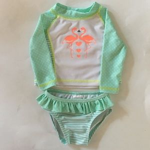 Rashguard and Bikini Bottom Set & Headband