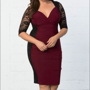 Kiyonna Dresses & Skirts - Kiyonna Valentina Wiggle/Bodycon dress